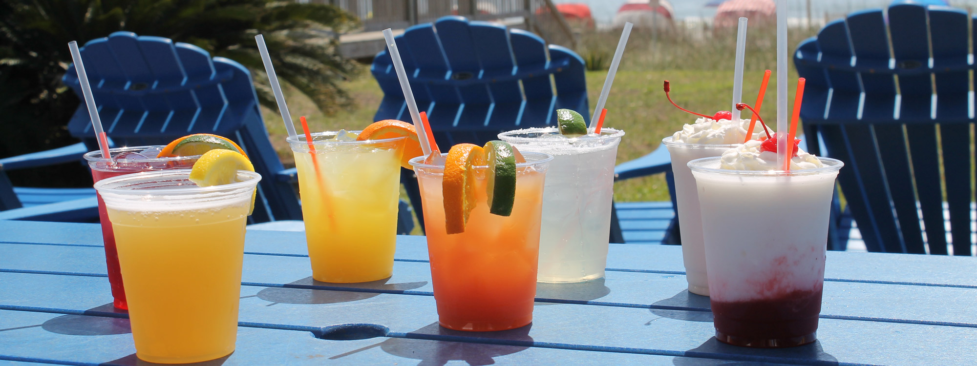 Myrtle Beach Oceanfront Drink Menu